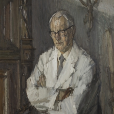 Portret van dr. A.J. Henneman