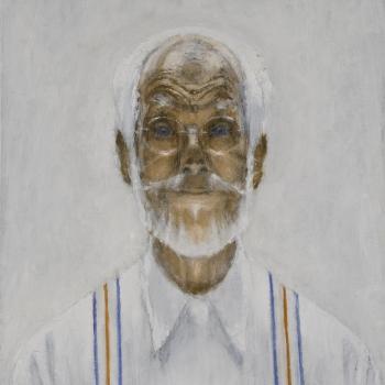 Tweekleurenzelfportret in tegenlicht