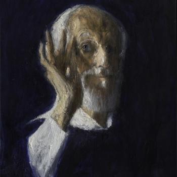 Zelfportret, 2019. Olieverf op doek.