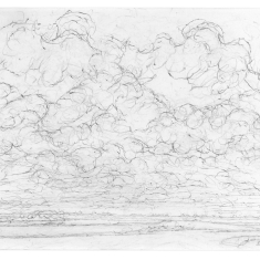 Noordwestenwind. Stapelwolken.