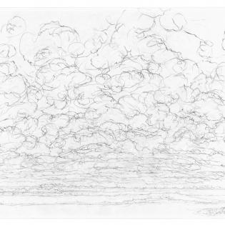 Zwaarbewolkt, ongrijpbare wolkenstructuren.