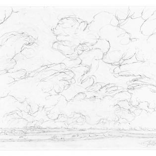 Zuidwestenwind. Prachtwolken.