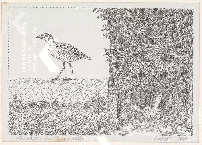 Peter Vos tekening voor Willem en Ferry