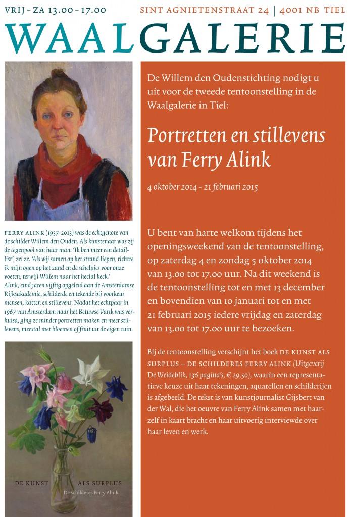 uitnodiging Ferry Alink Waalgalerie
